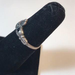 SD Jewelry - SD vintage sterling & Marcasite claddagh ring 7.5
